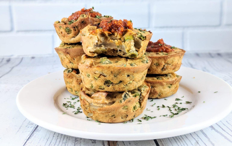 Muffin Salati Vegani ai Ceci e Verdure